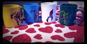 Set of 4 Marvel Mugs